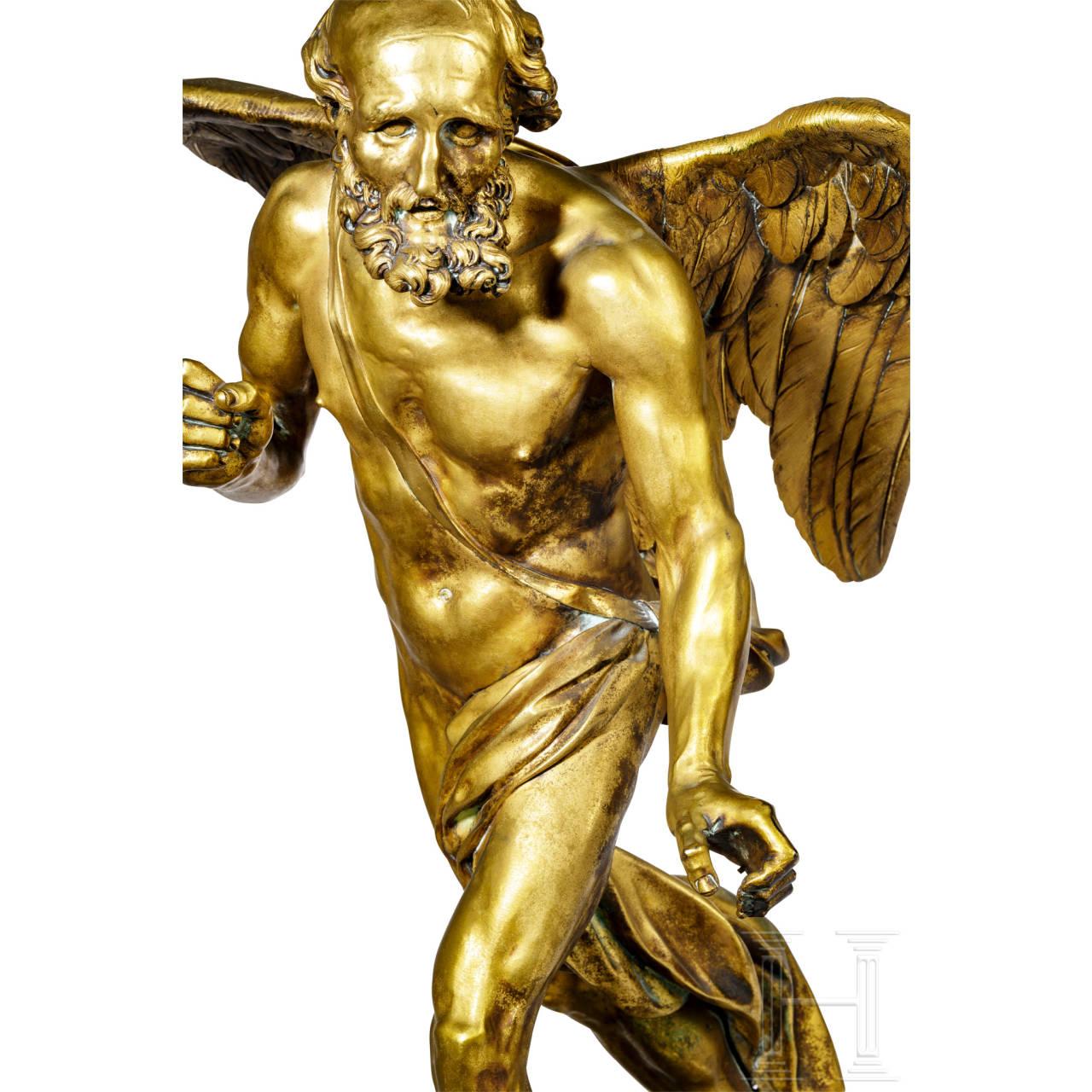 Bedeutende, feuervergoldete, klassizistische Skulptur des Kronos, Paris, um 1780