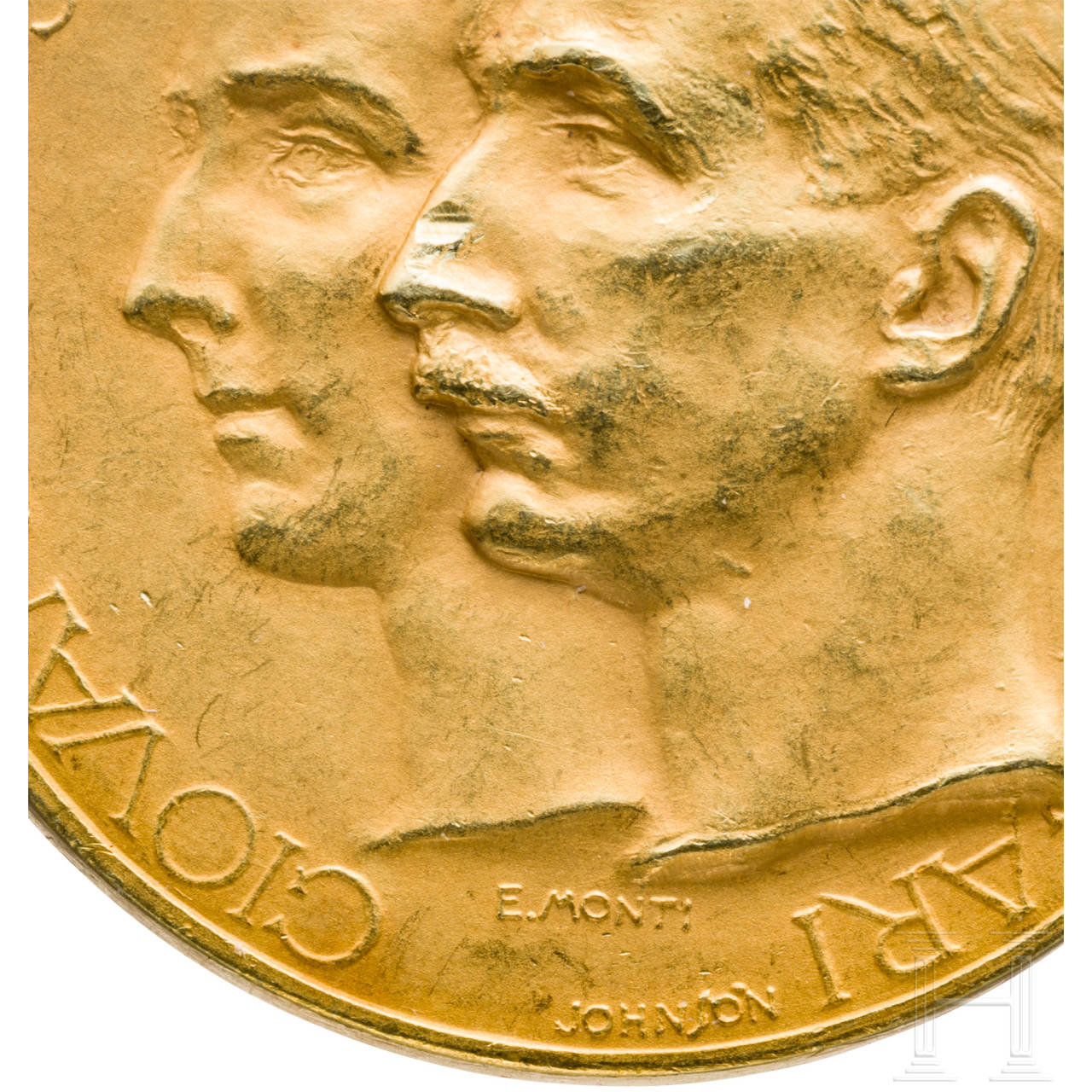 A gold medal to commemorate the wedding of Princess Giovanna to Tsar Boris III of Bulgaria in Assisi in 1930