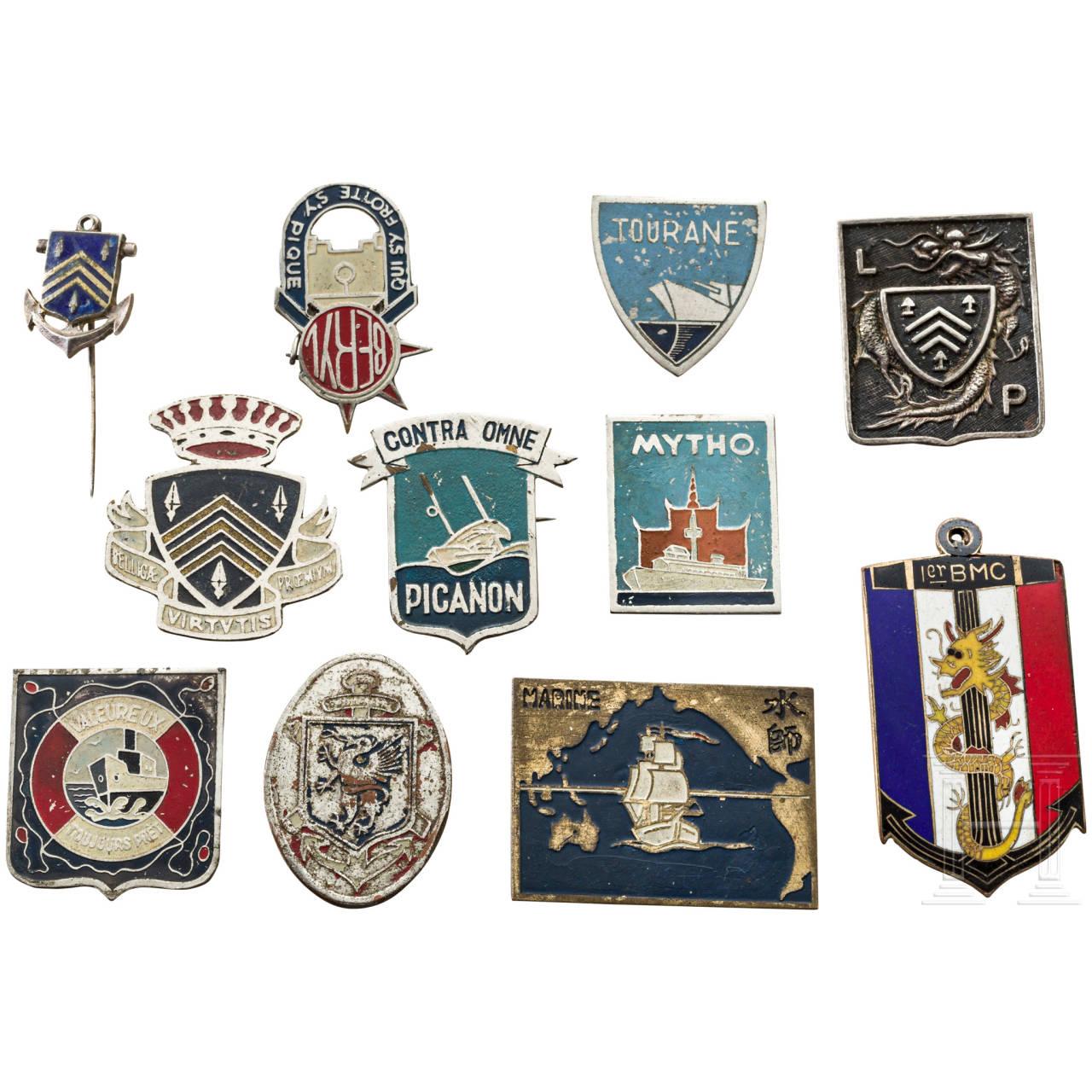 Eleven badges, France / East Asia, 1st half 20th century