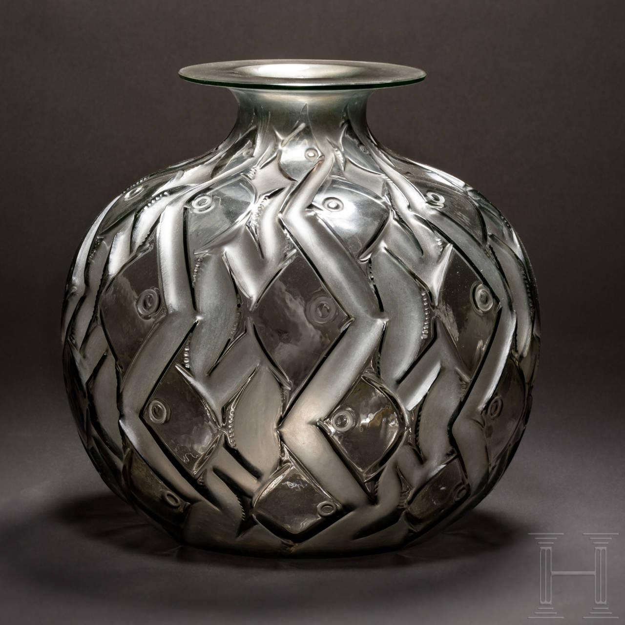 "A French Art Deco vase, ""Phentièvre"" model, René Lalique, circa 1928"