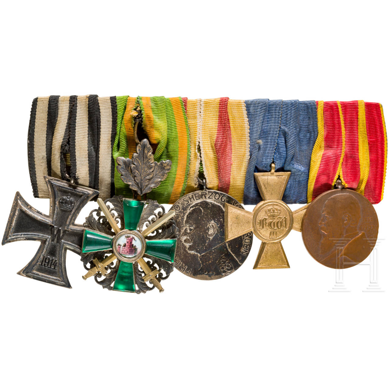 Medal bar with five awards