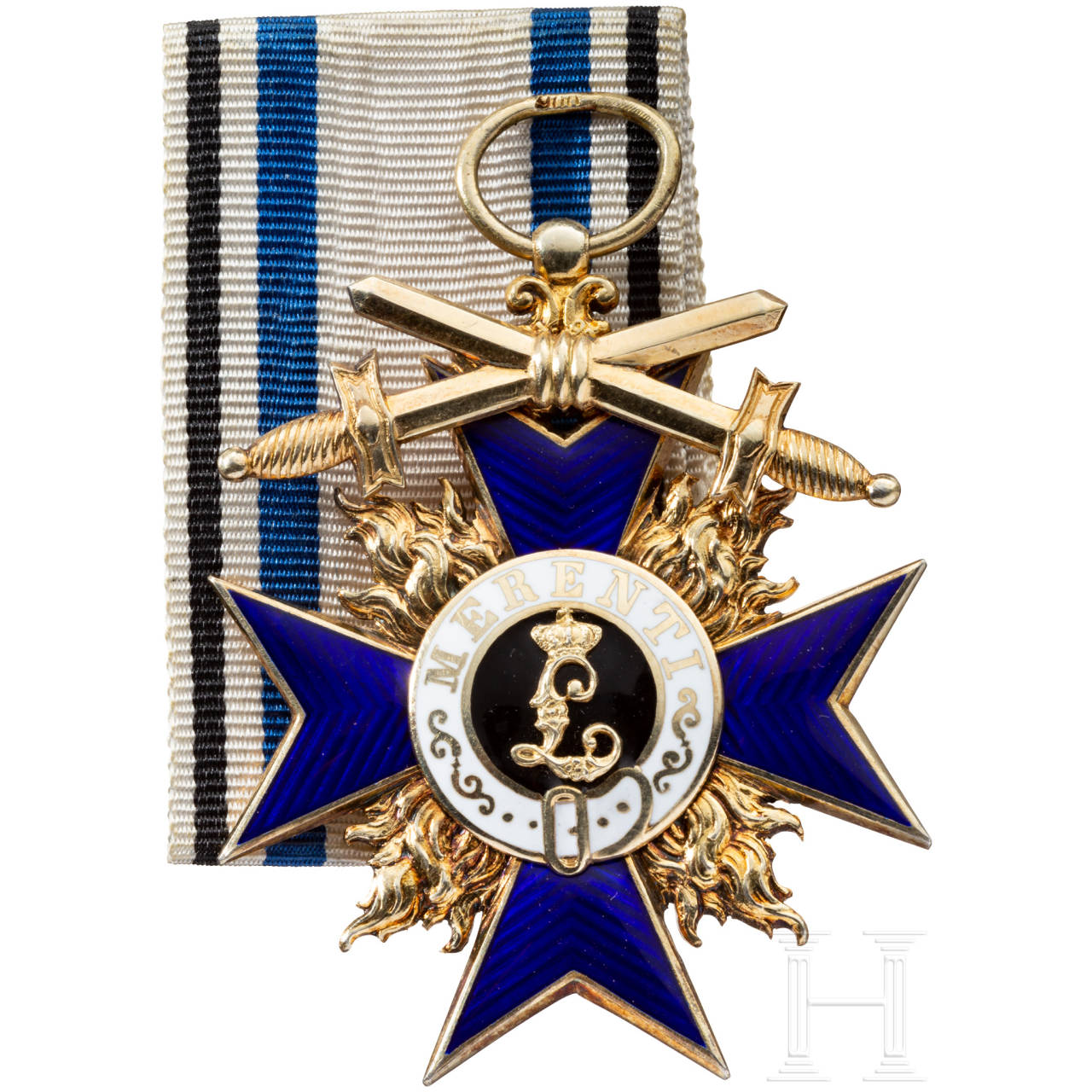 Military Merit Order - Cross 3rd class with swords, made by Hemmerle