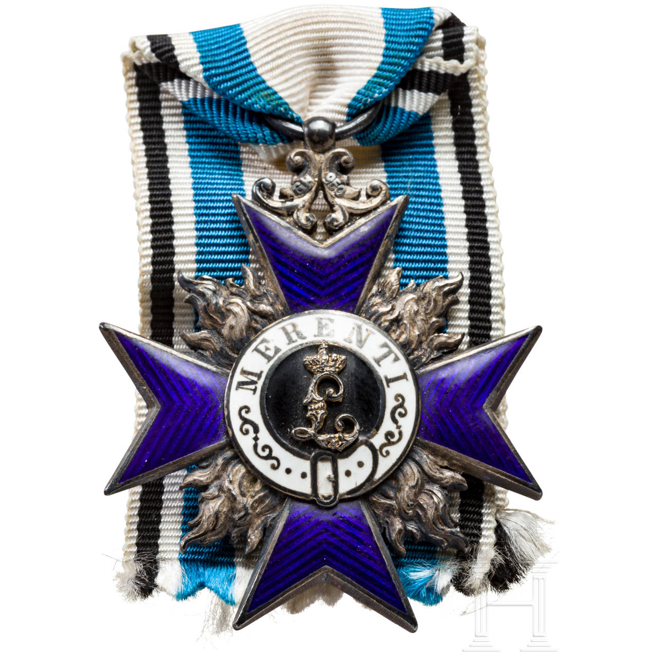 Order of Military Merit 4th class in case and a document
