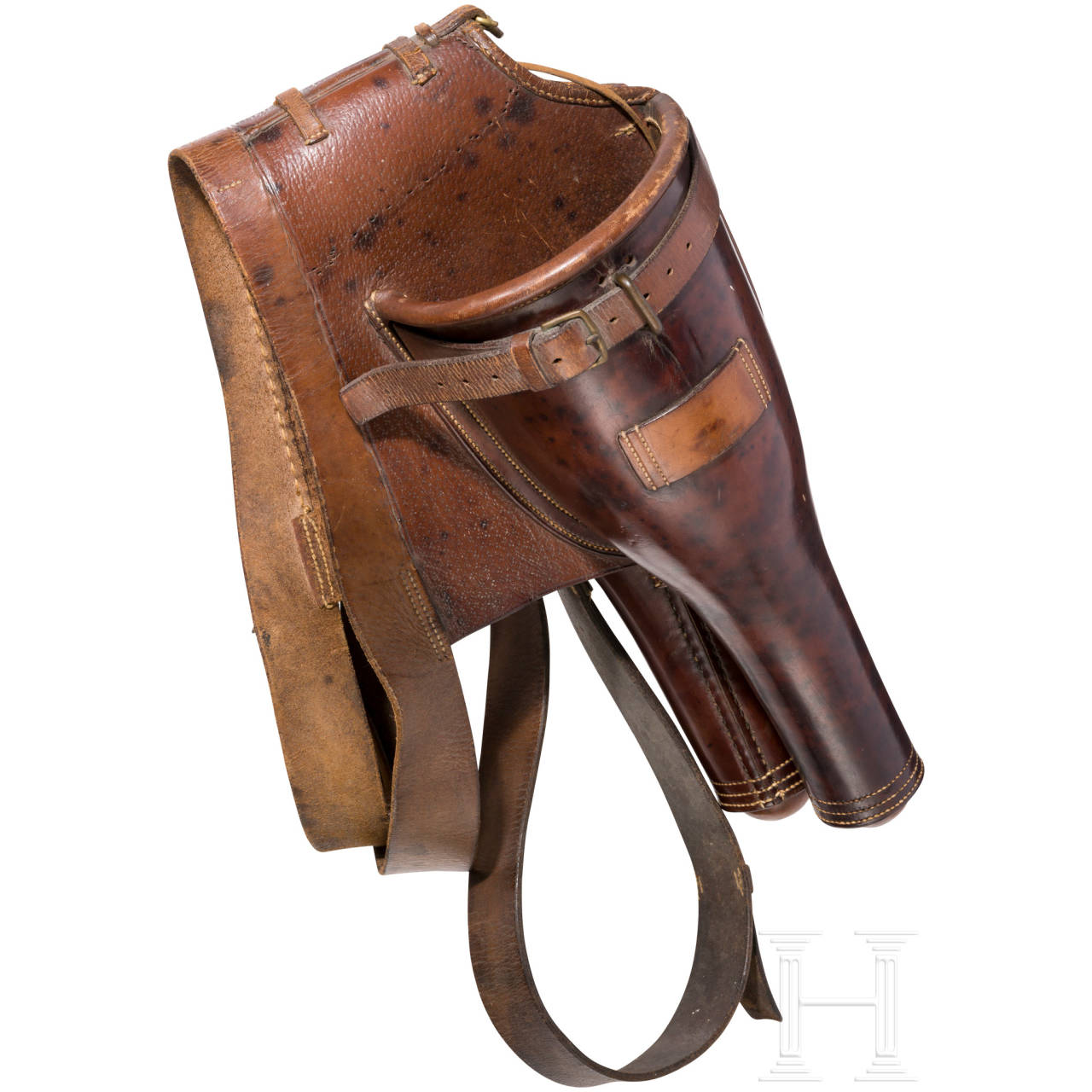 A pair of cavalry pistol holsters, 1st half of the 19th century