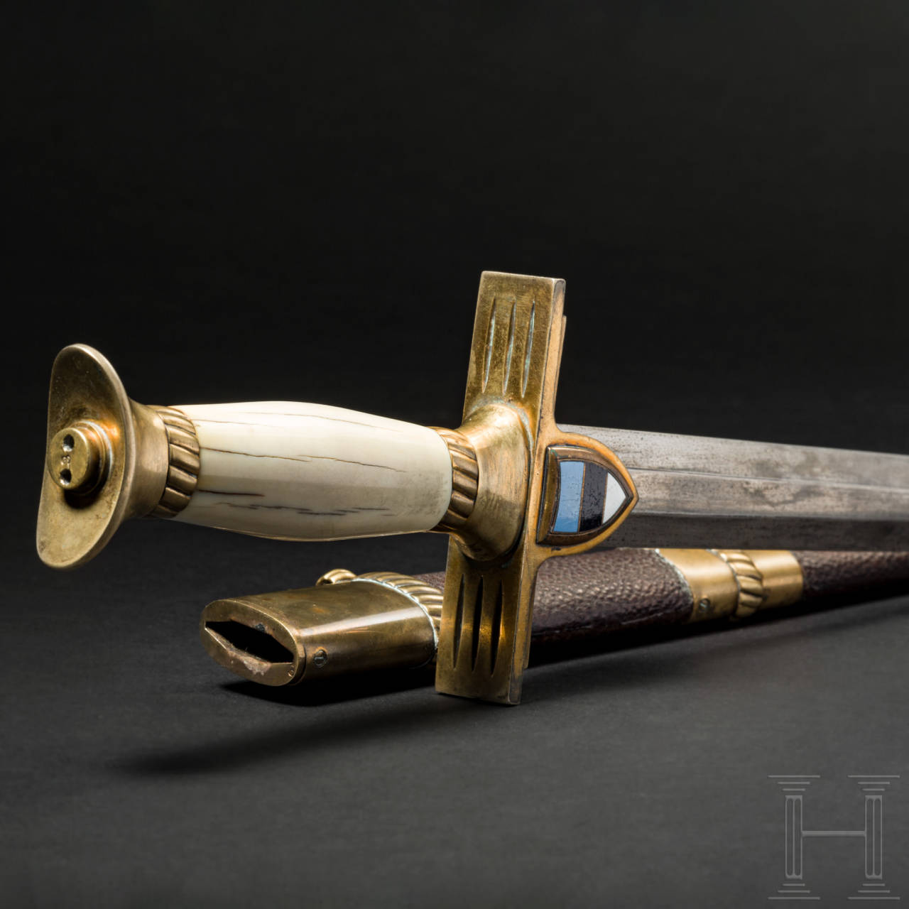 A dagger for officers of the army, with an ivory grip, 1920s/30s