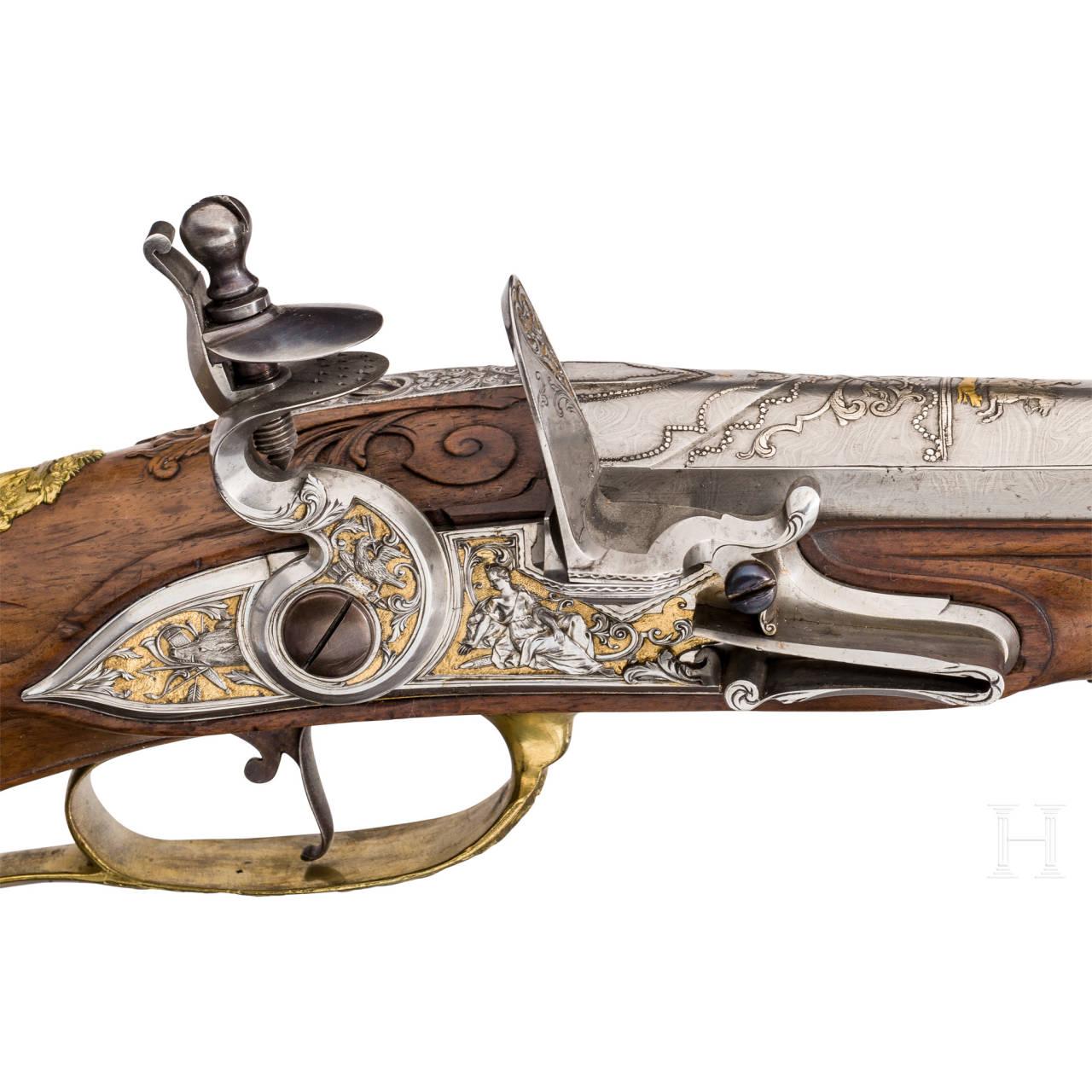 A deluxe flintlock rifle, Vienna, circa 1730/40