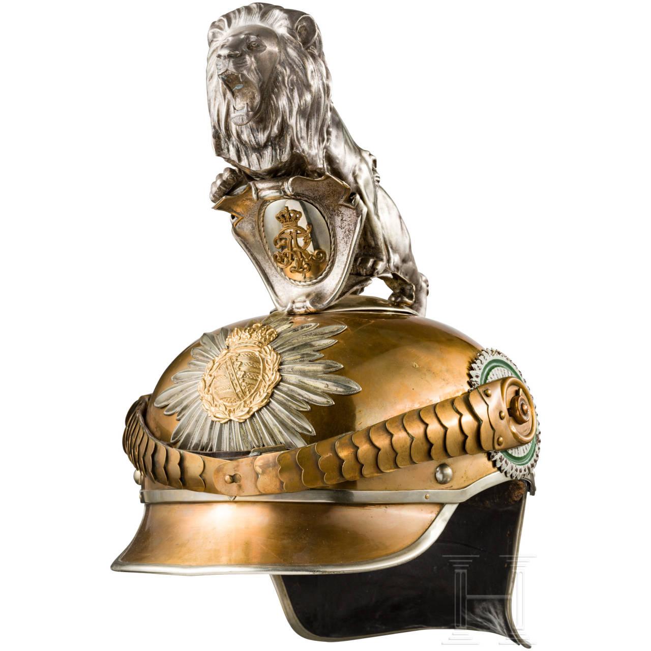 An M 1907 helmet for enlisted men of the Gardereiter-Regiment