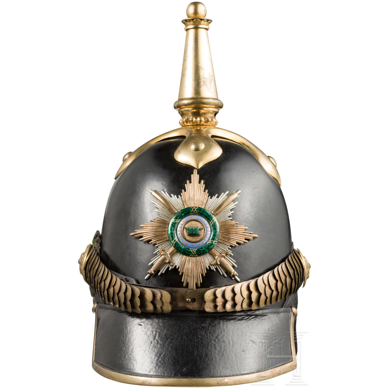 A model 1853 helmet for officers of the ducal infantry