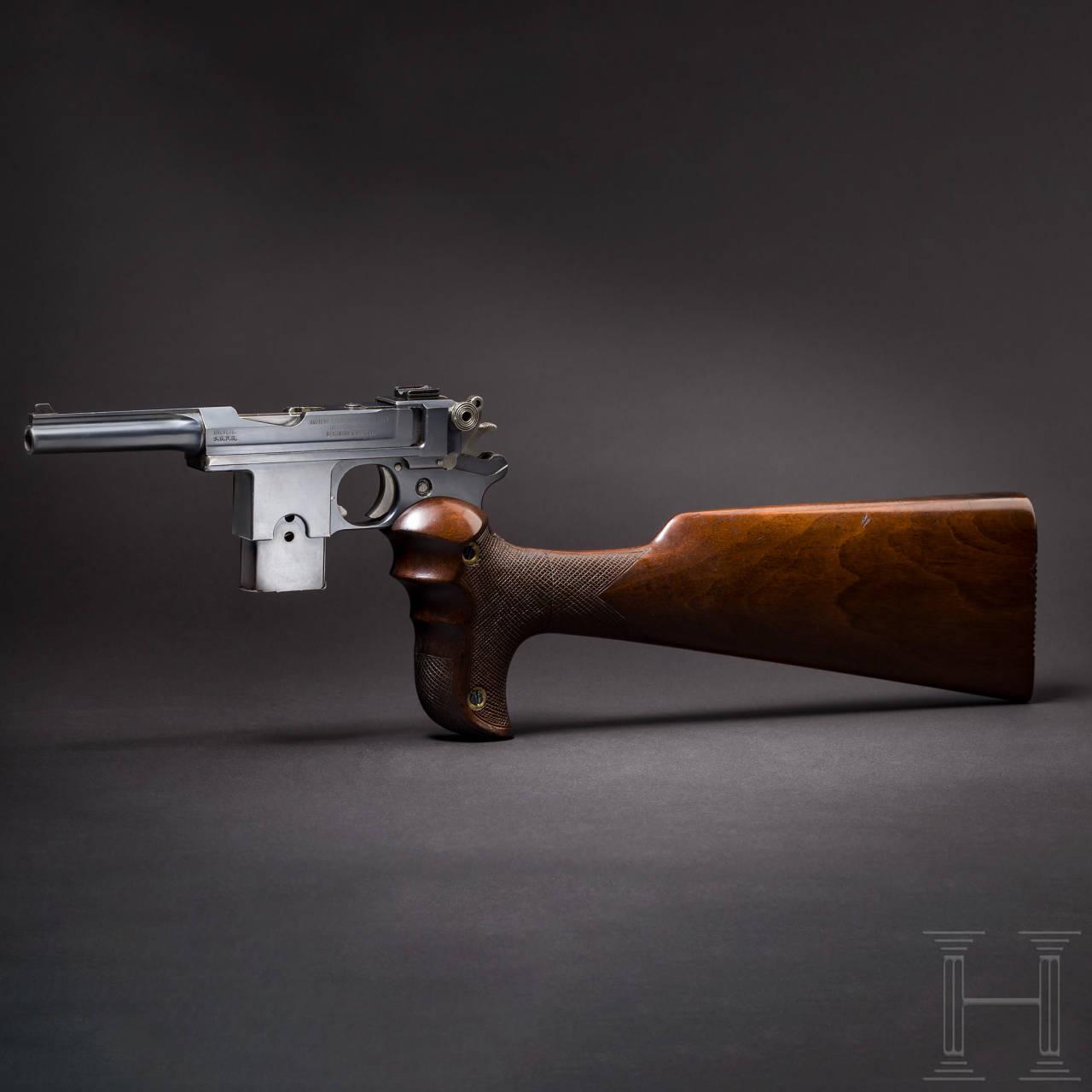 A Bergmann-Bayard Mod. 1908, with shoulder stock