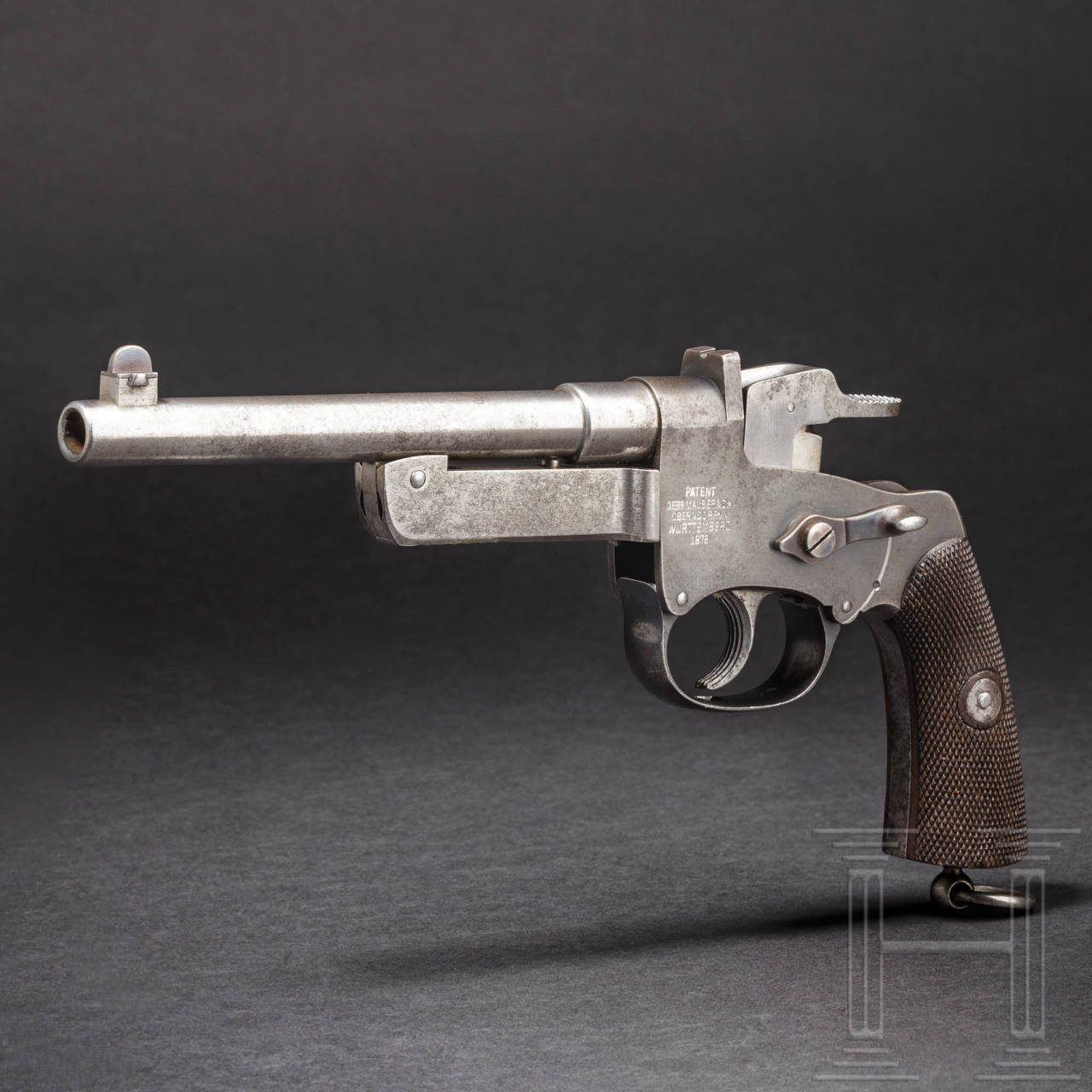 A Mauser Model C 77, rolling action pistol with fixed barrel, trial (?)