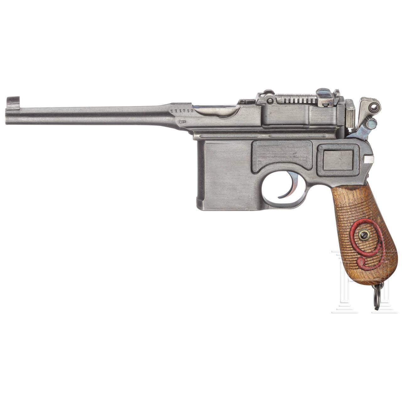 Mauser C 96 Commercial, mit Anschlagkasten