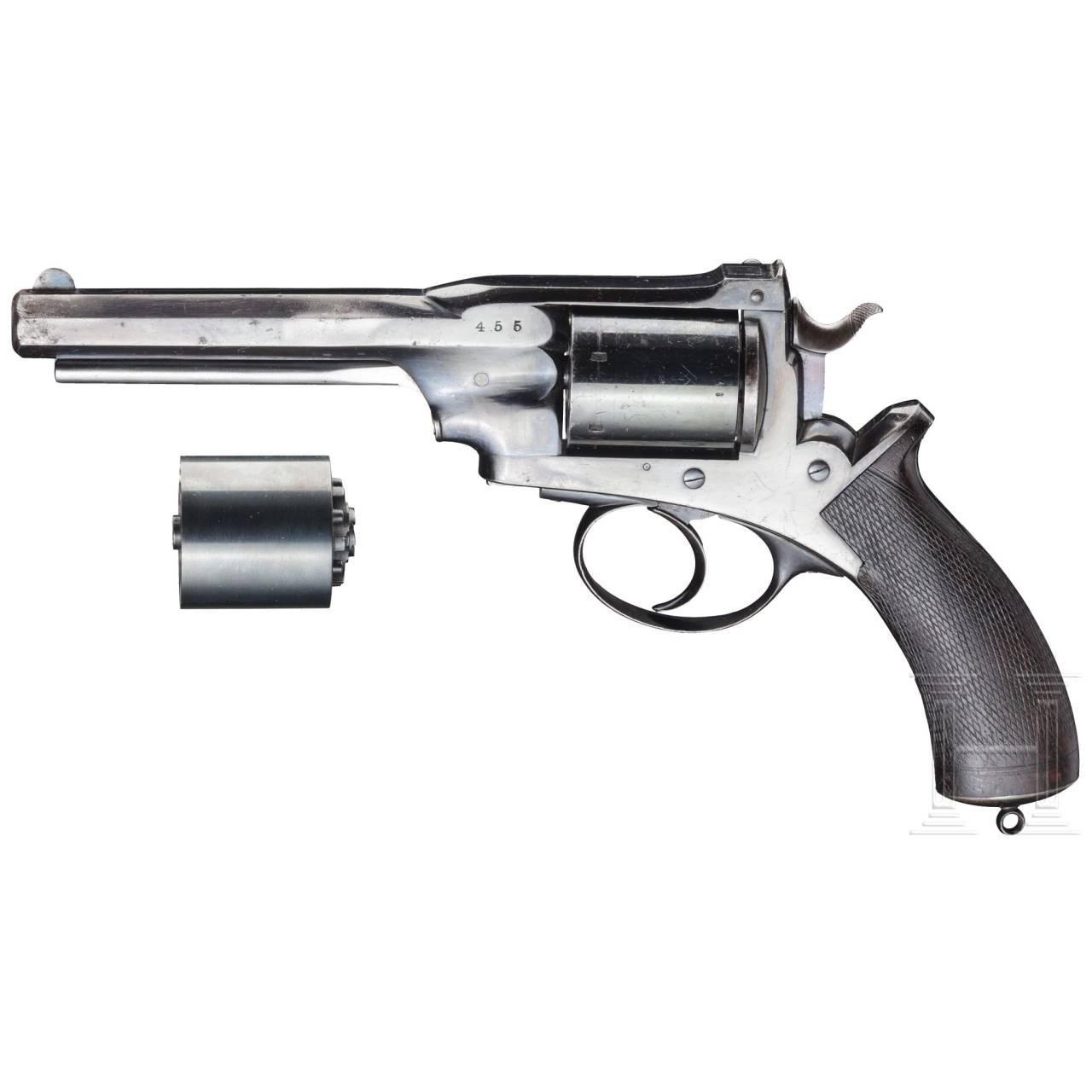 Dean-Harding Dual System Revolver mit Wechseltrommel, um 1870
