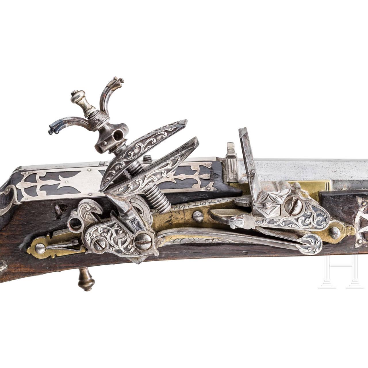 Silbermontiertes Miqueletgewehr, Tunesien, datiert 1824