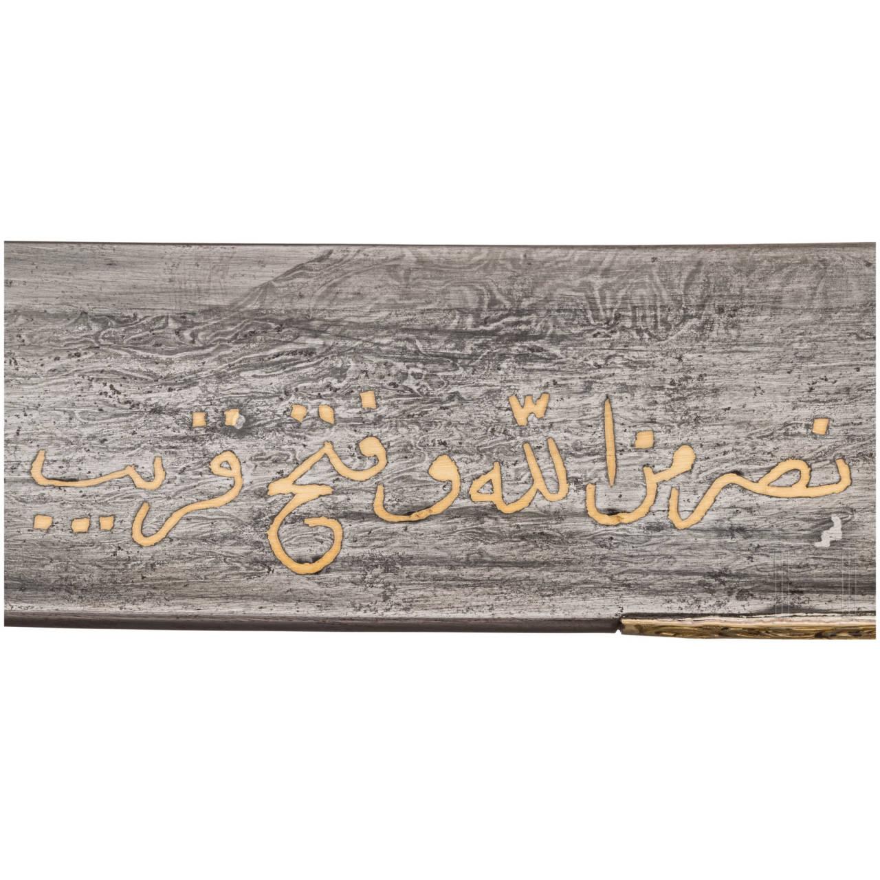 Goldmontierter Yatagan, Marokko/Tunesien, um 1800