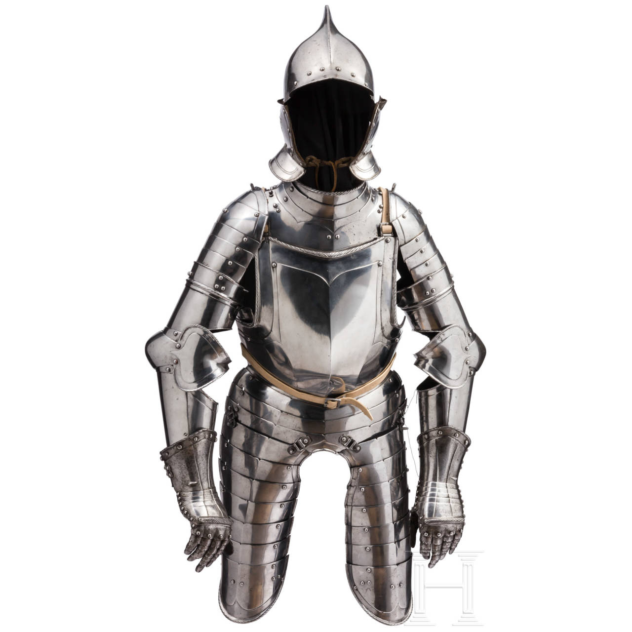A polished German suit of three-quarters armour in quality befitting an officer, Nuremberg, circa 1560