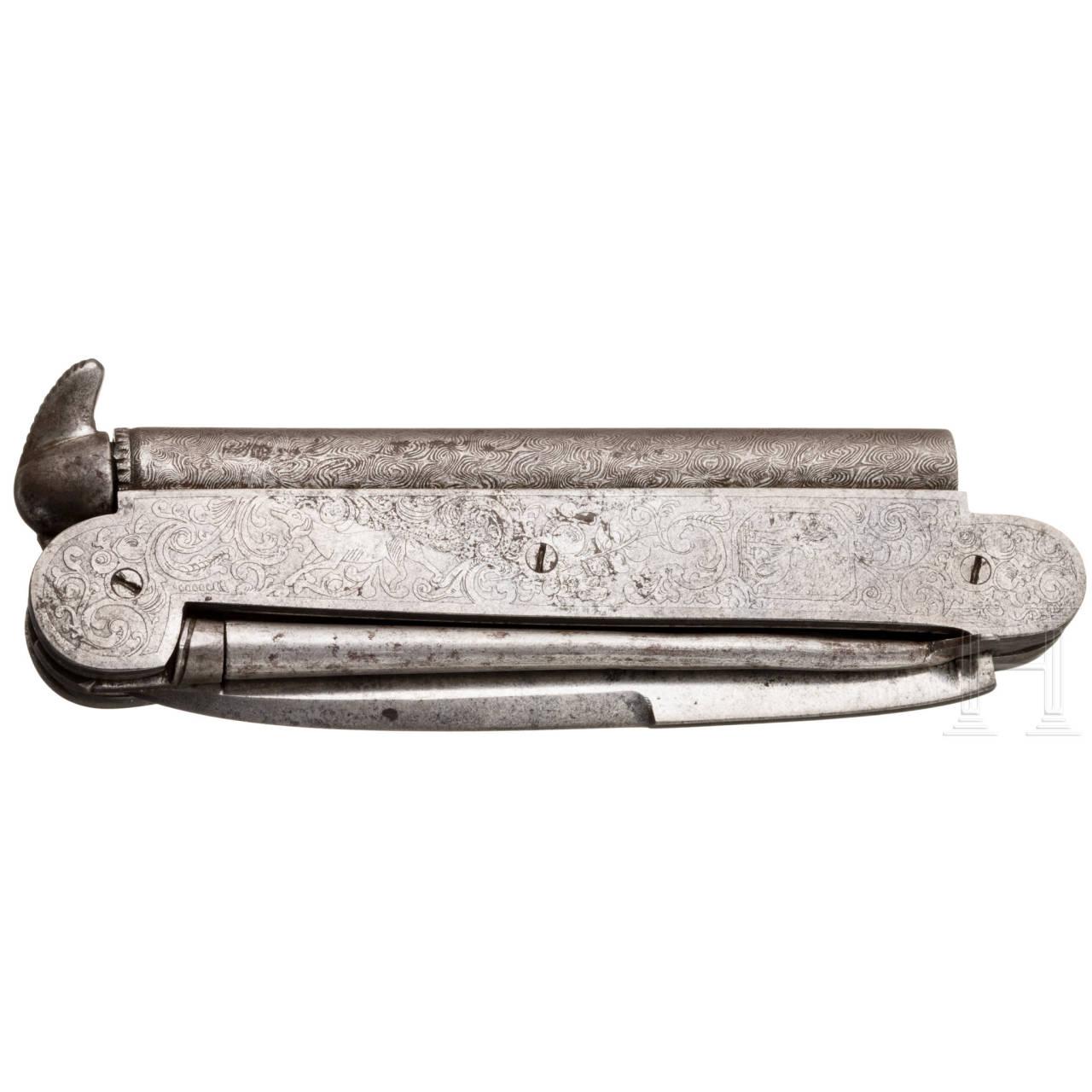 Perkussions-Schießtaschenmesser, Lüttich, um 1850
