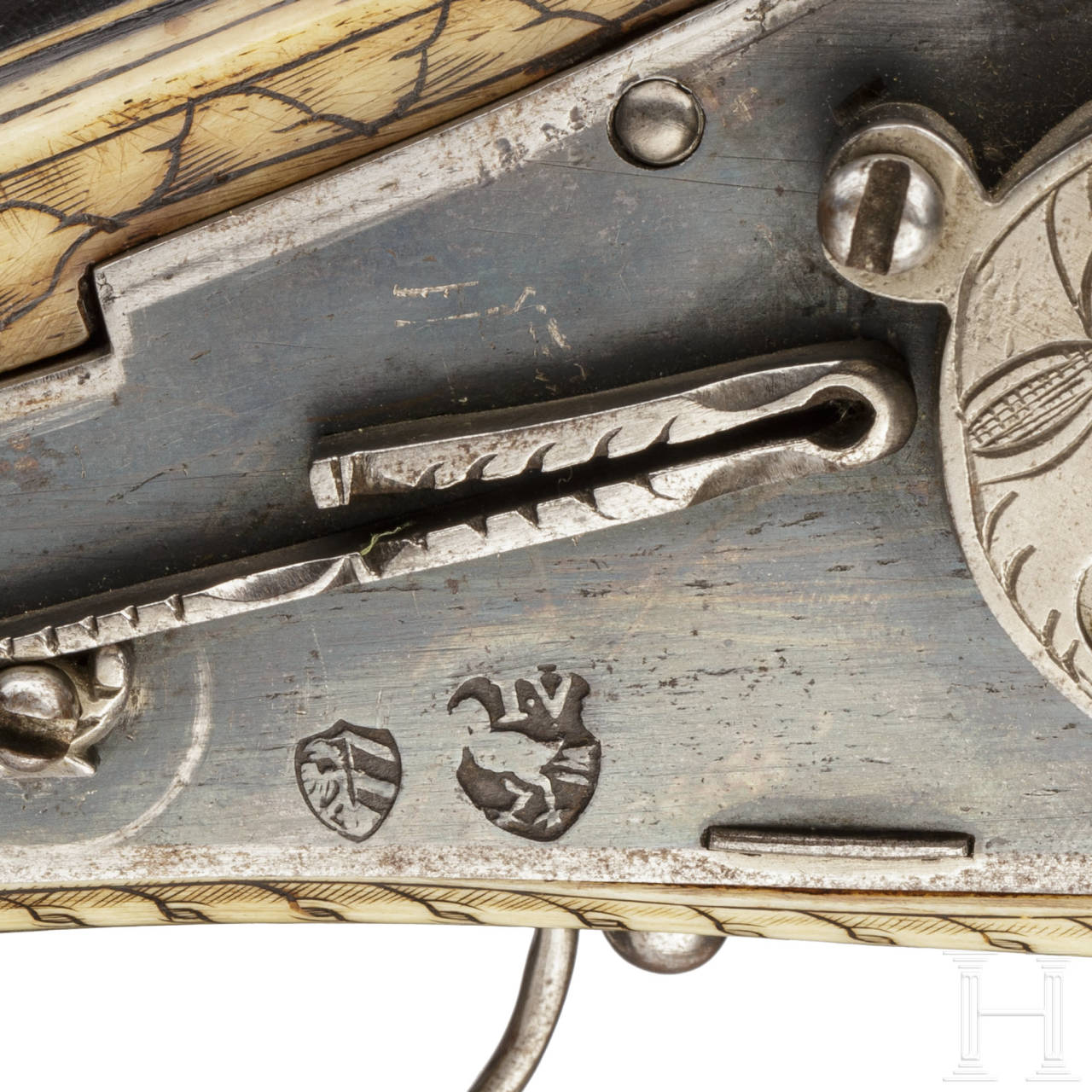 Two South German wheellock puffers of very similar manufacture, late 16th century