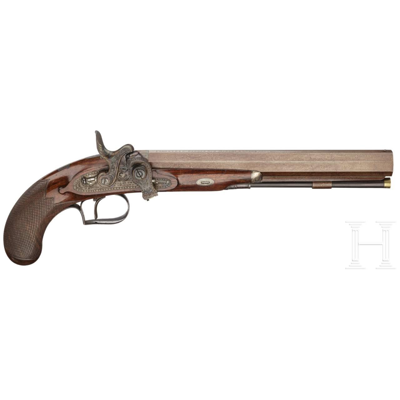 Pistole mit Forsyth-Zündsystem, Forsyth & Co., London, um 1820