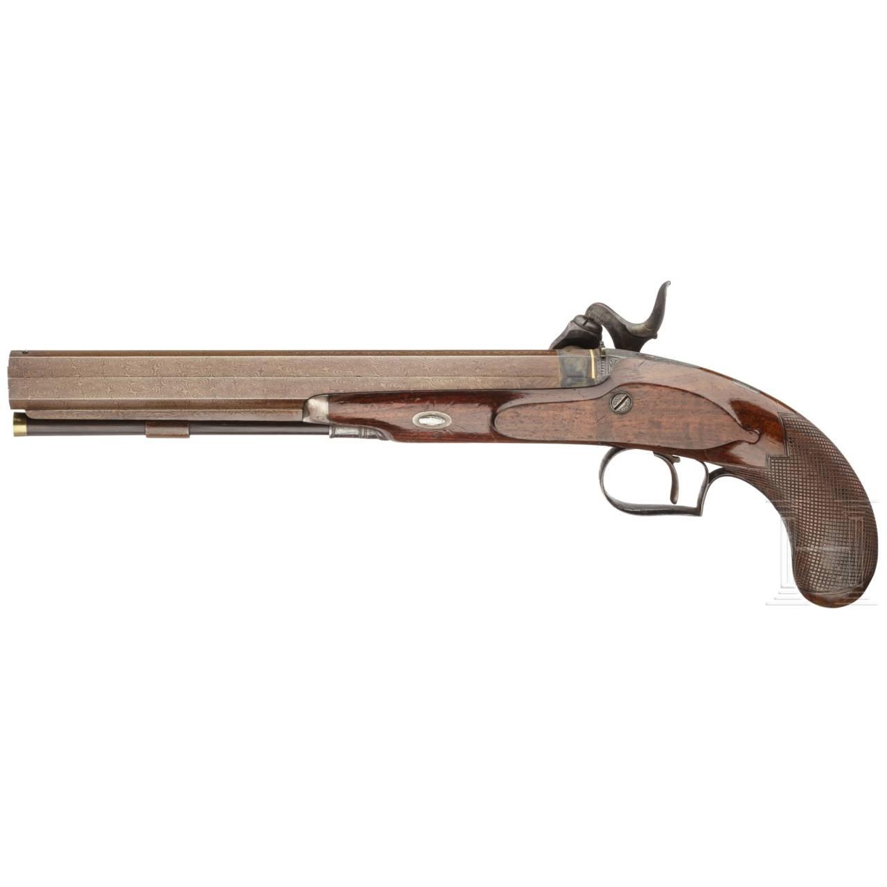 A pistol with a Forsyth firing system, Forsyth & Co, London, circa 1820