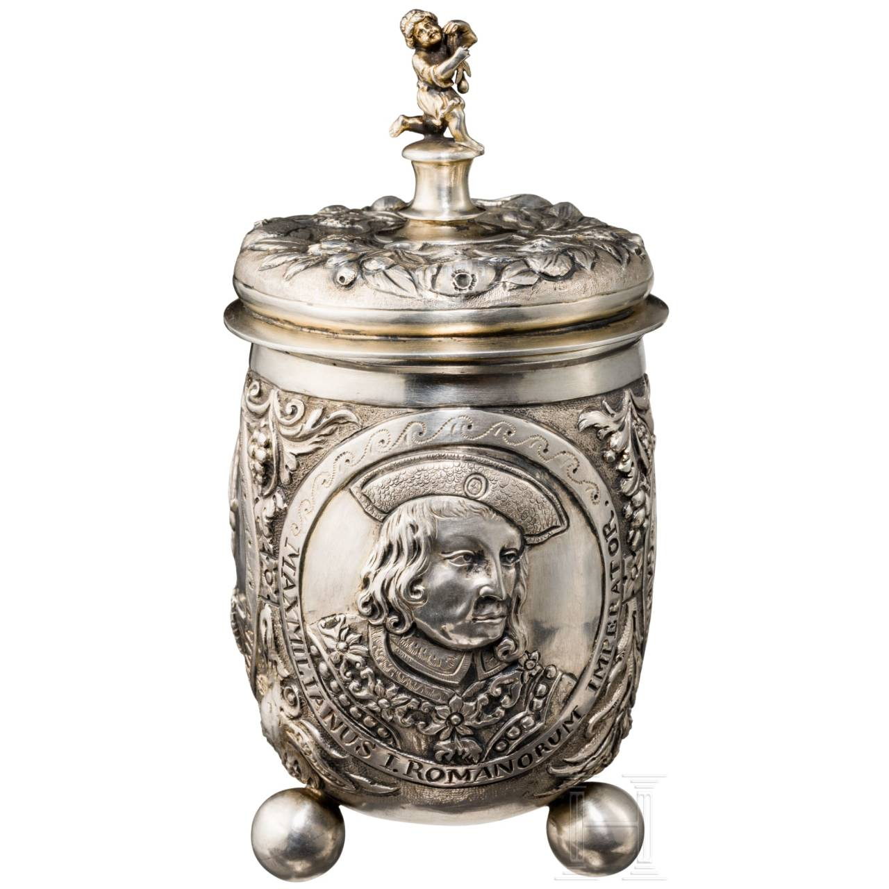 A silver beaker in 17th century Baroque style, Augsburg, circa 1870/80