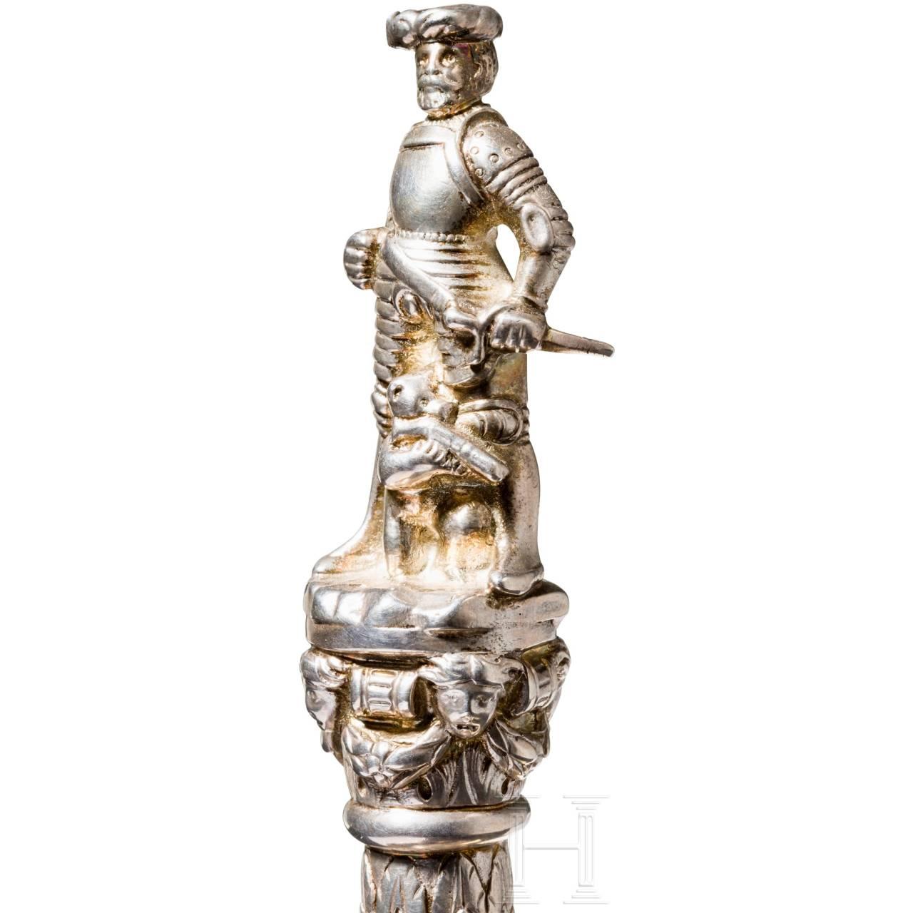 """A silver model of the """"Schützenbrunnen"""" from Bern, circa 1900"""