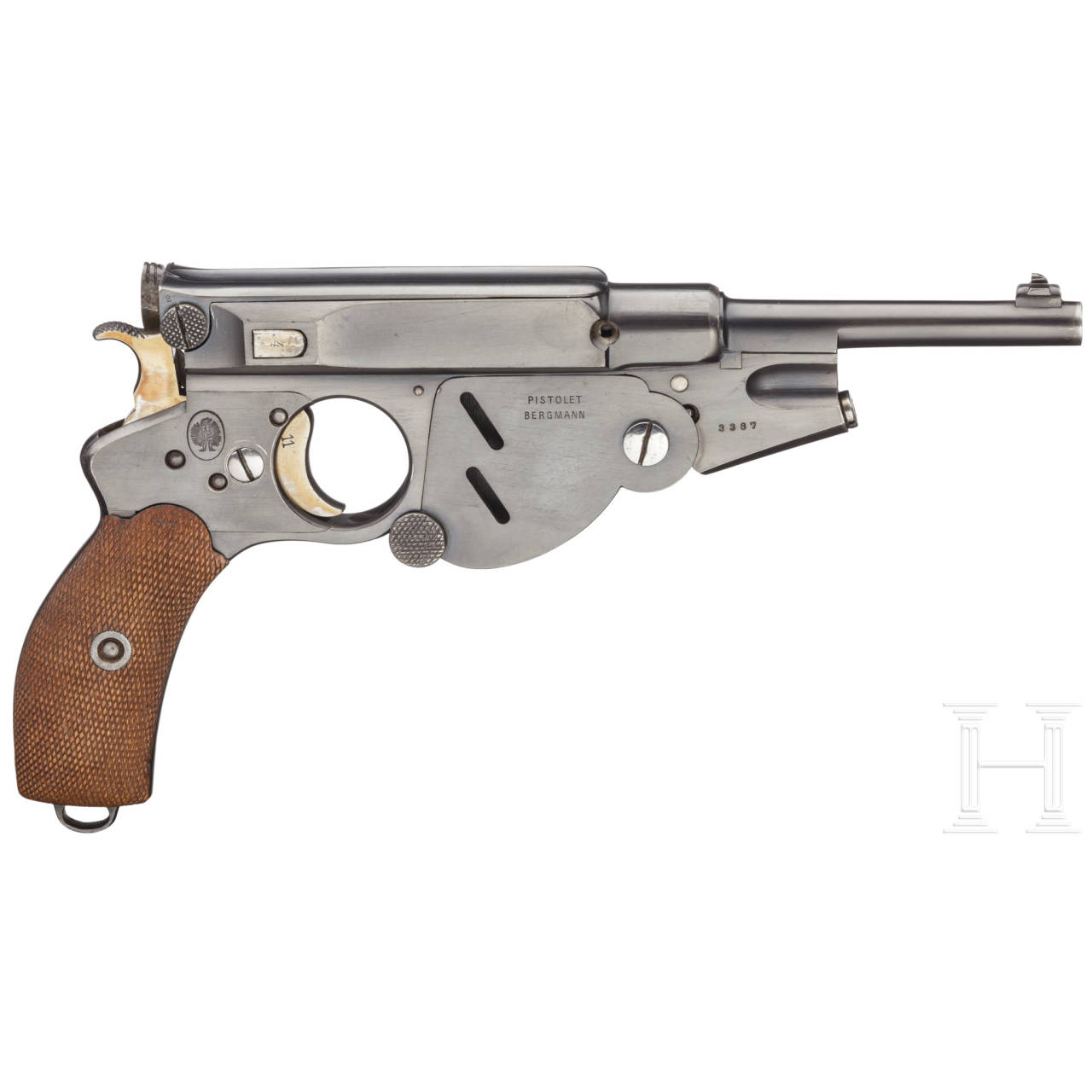 A Bergmann Mod. 1896 No. 3, with charging clip
