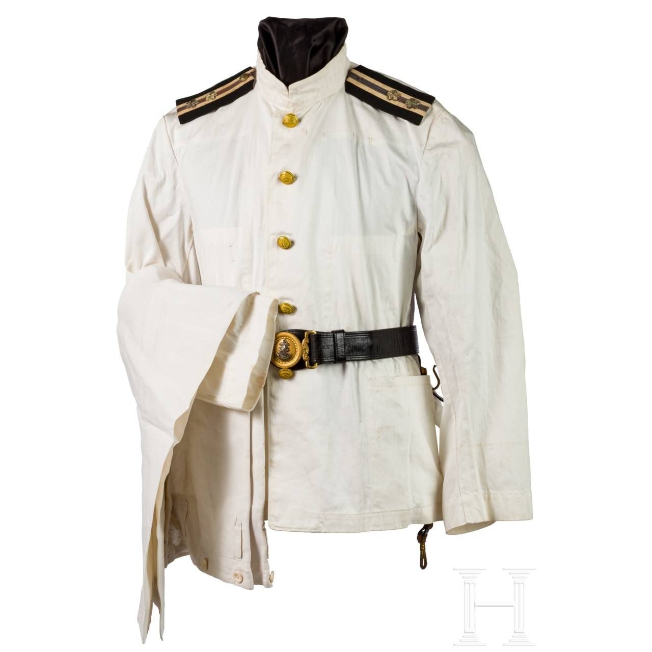 A set comprising uniform and equipment belonging to a World War II naval officer