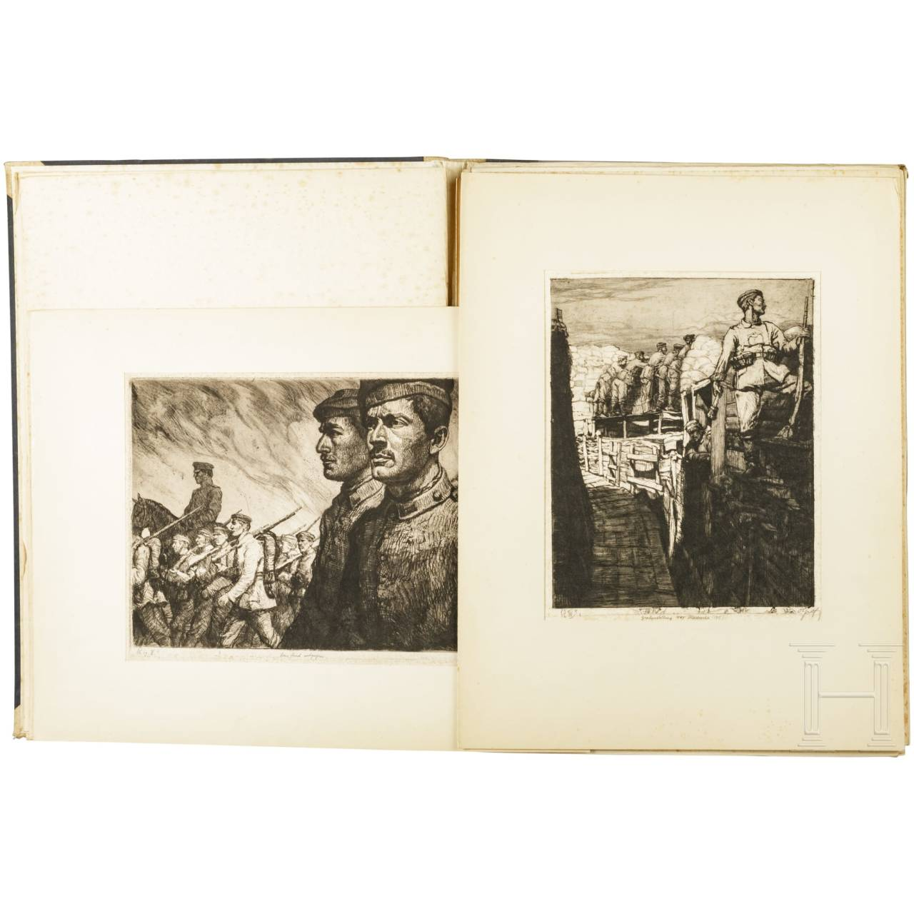 "Oscar Graf (1873 - 1958) - ""War Etchings"" portfolio"