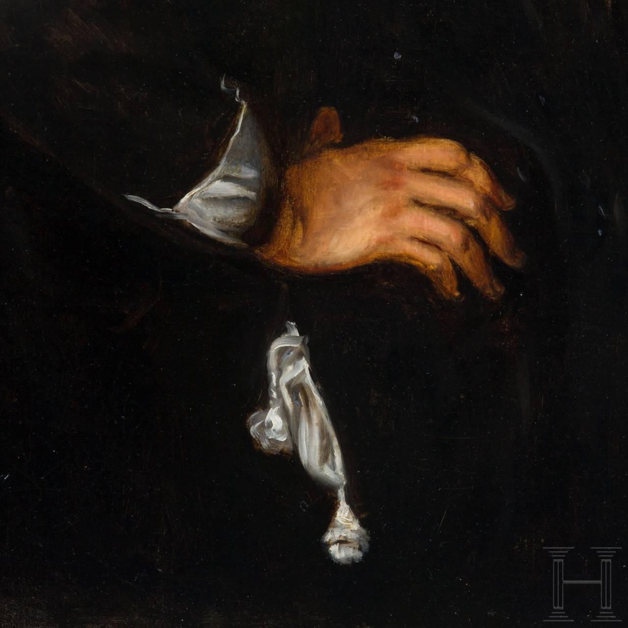 Portrait eines Mitgliedes einer Armbrustschützengesellschaft, Niederlande, datiert 1665