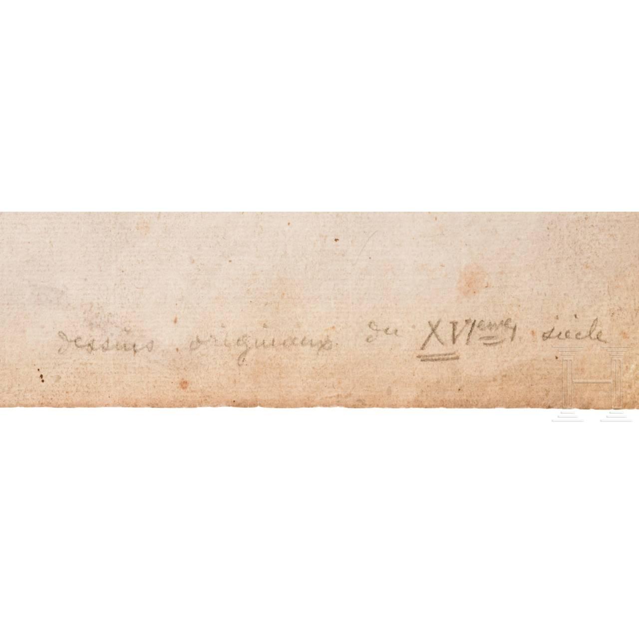 Gaetano Piccini (ca. 1700 - ca. 1750), Altmeister-Zeichnung einer Groteske, Italien, 18. Jhdt.