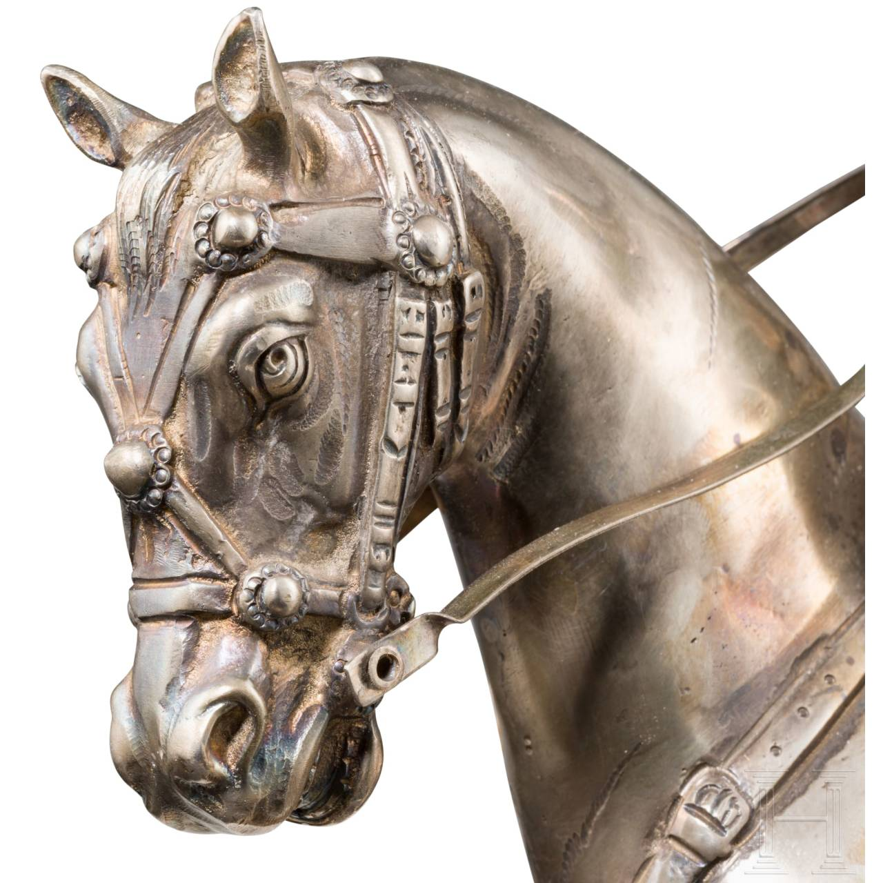 A German silver statuette of a high-ranking cavalry officer, 19th century
