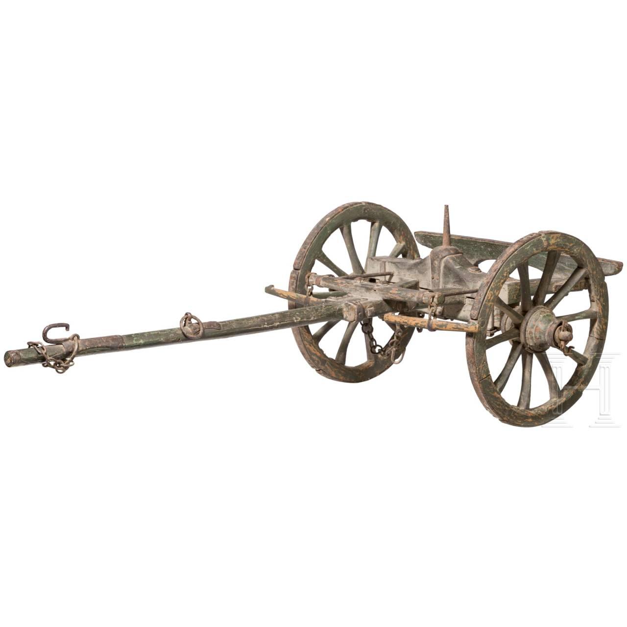 Protze für ein Modell eines französischen Feldgeschützes, 19. Jhdt