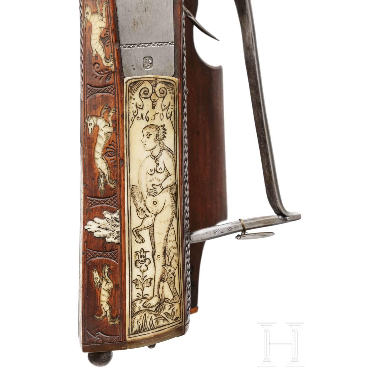 Radschlossbüchse aus der Gewehrkammer der Fürsten von Salm-Reifferscheidt, süddeutsch, datiert 1649