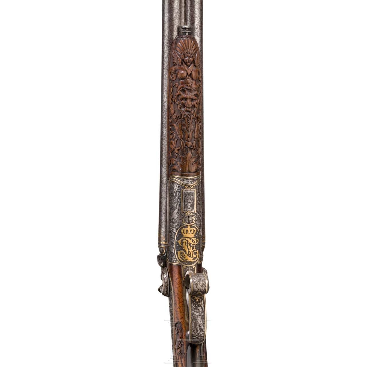 Luxus-Hahndoppelflinte L. Dieter, München, aus dem Besitz von Prinz Ludwig Ferdinand von Bayern, Ende 19. Jhdt.