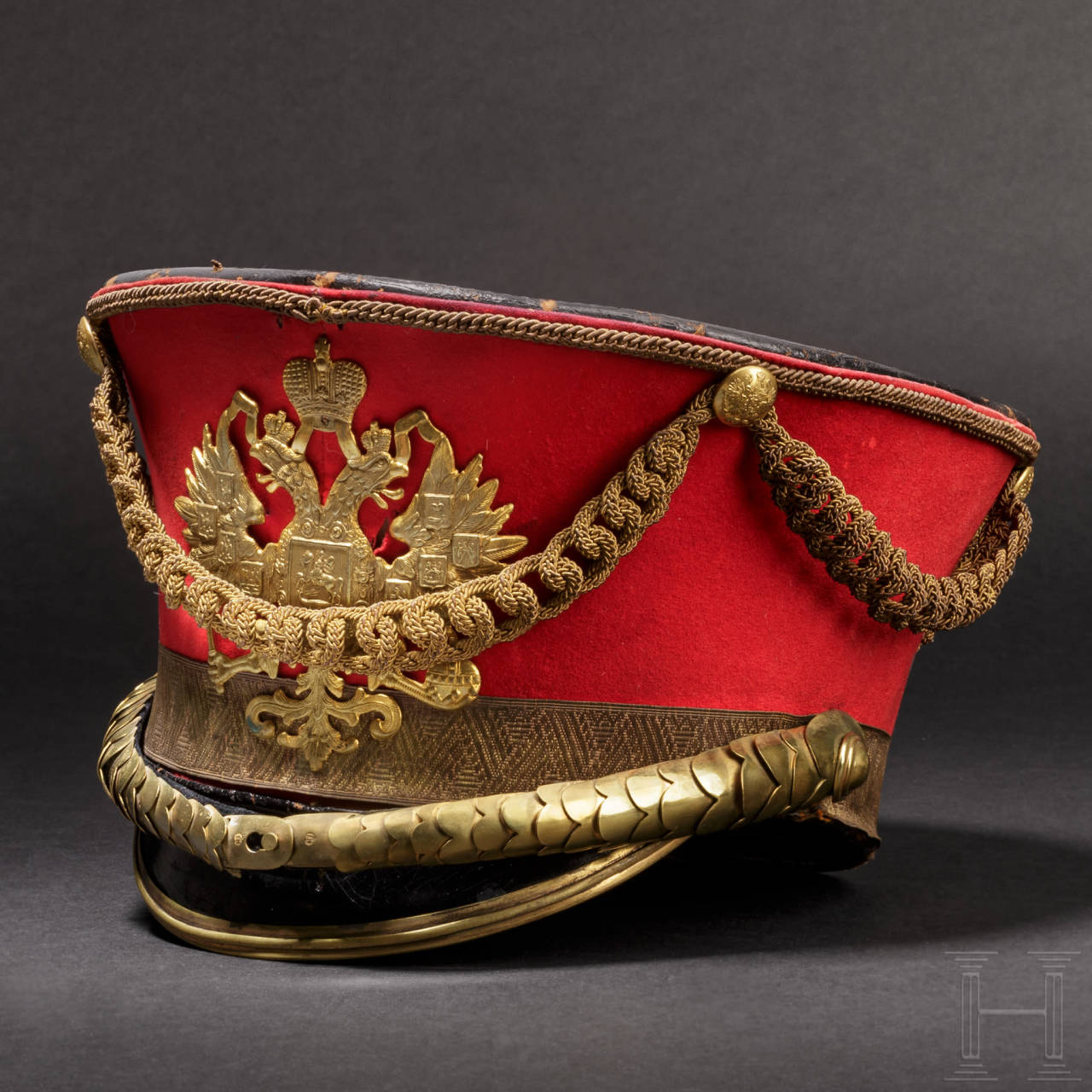 A shako M 1910 for a general of the cavalry in the Imperial Lifeguard