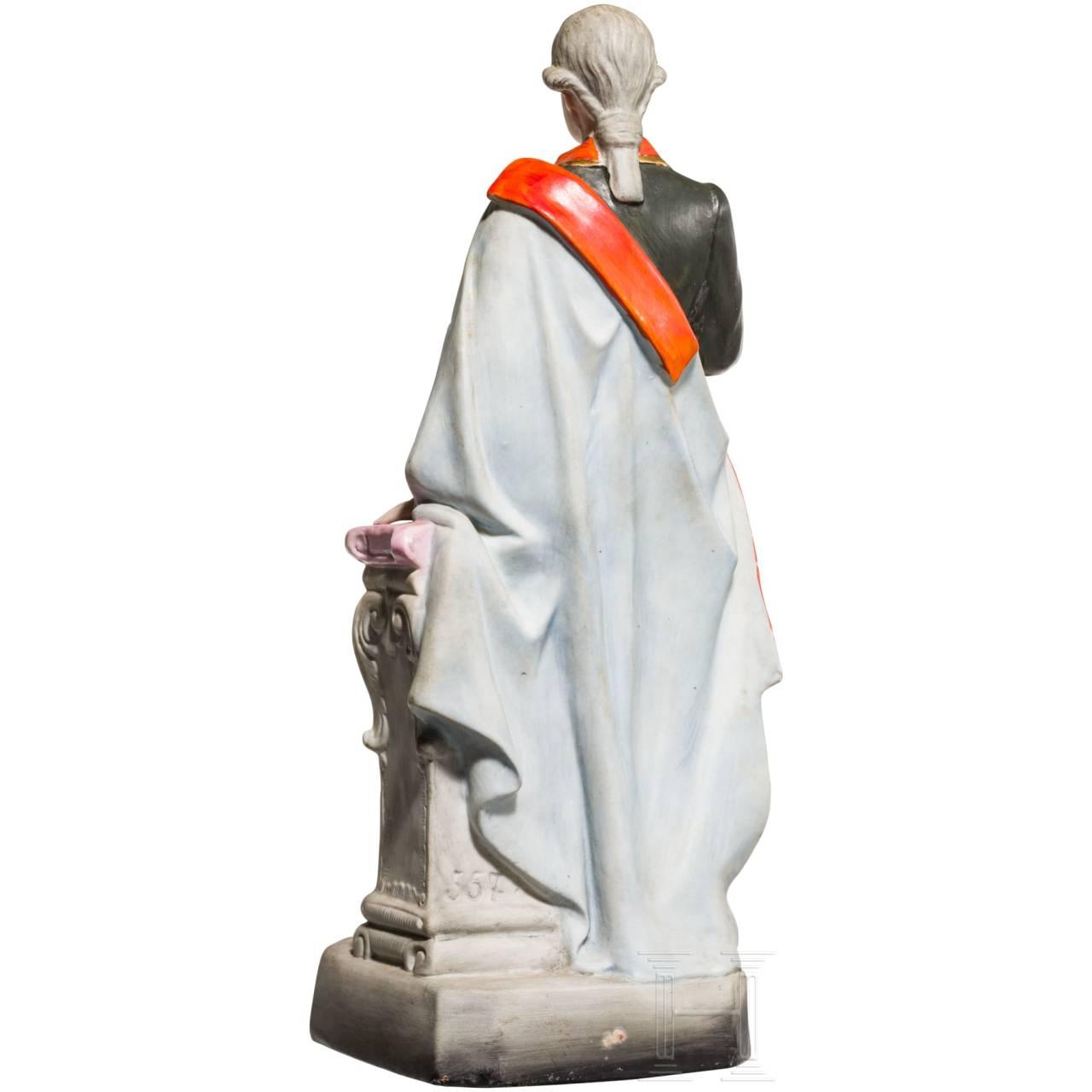 Kaiser Joseph II. - farbig gefasste Keramikfigur