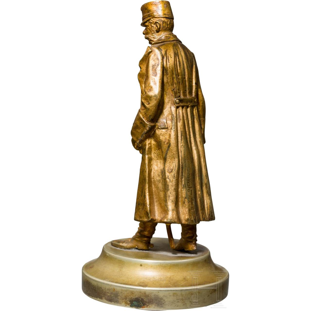 Kaiser Franz Joseph I. von Österreich - kleine, vergoldete Bronzebüste