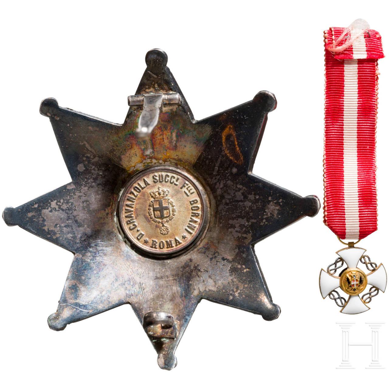 Orden der Krone von Italien - Stern des Großoffiziers, im Etui