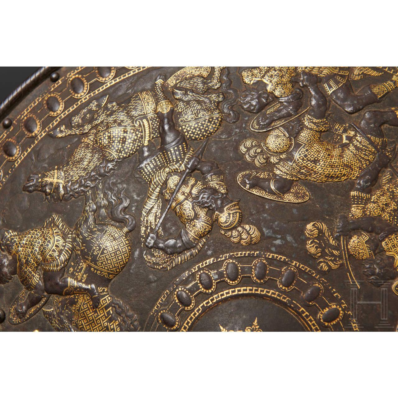 Goldtauschierter Parade-Schild, Mailand, um 1560/70