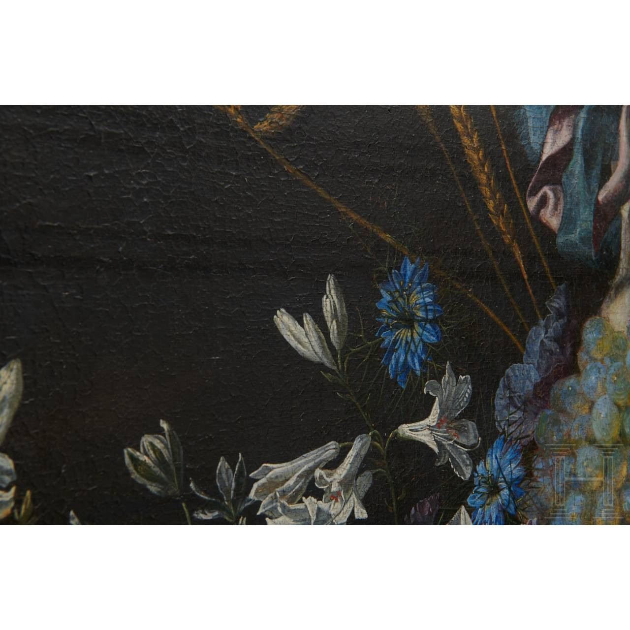 A monumental Flemish altar painting with a monogram, 17th century