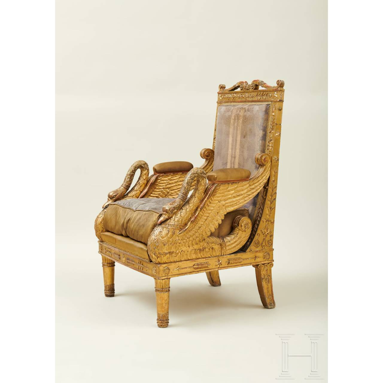 A splendid French armchair, Jacob model, early 19th century
