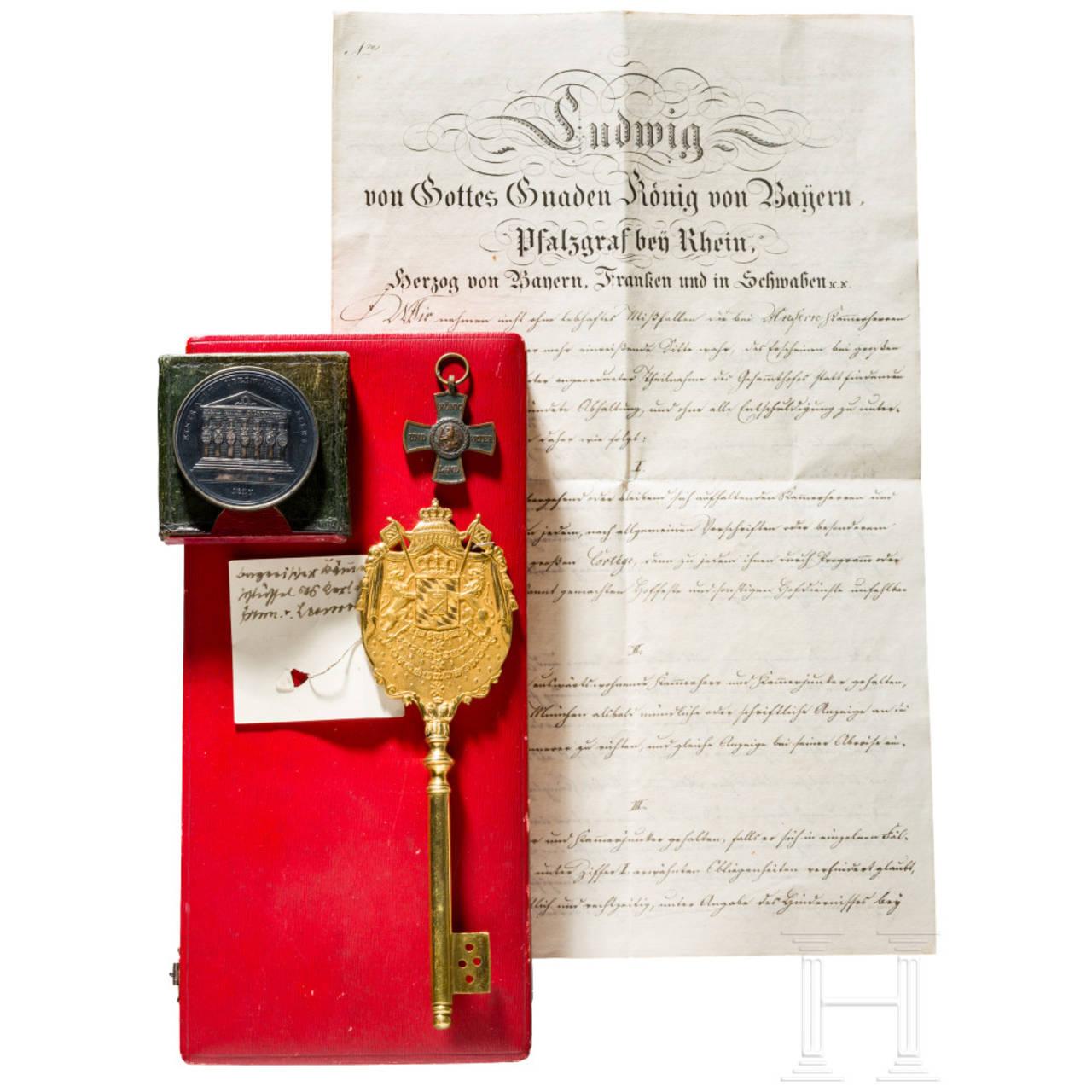 Ludwig Freiherr von Leonrod - a Royal Bavarian chamberlain's key