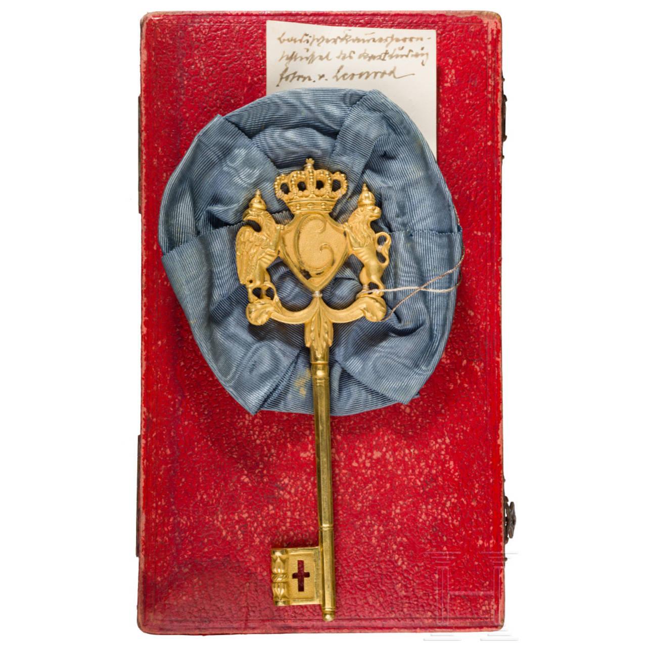 Ludwig Freiherr von Leonrod - a Grand Duchy of Baden chamberlain's key