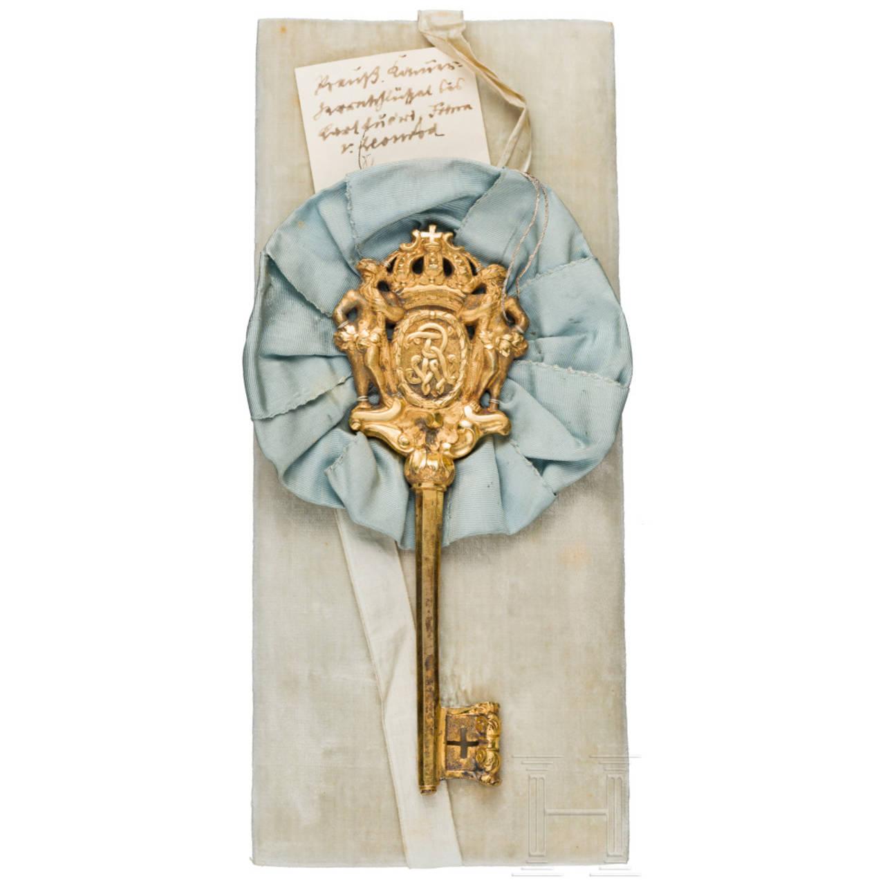 Ludwig Freiherr von Leonrod – A Royal Prussian chamberlain's key