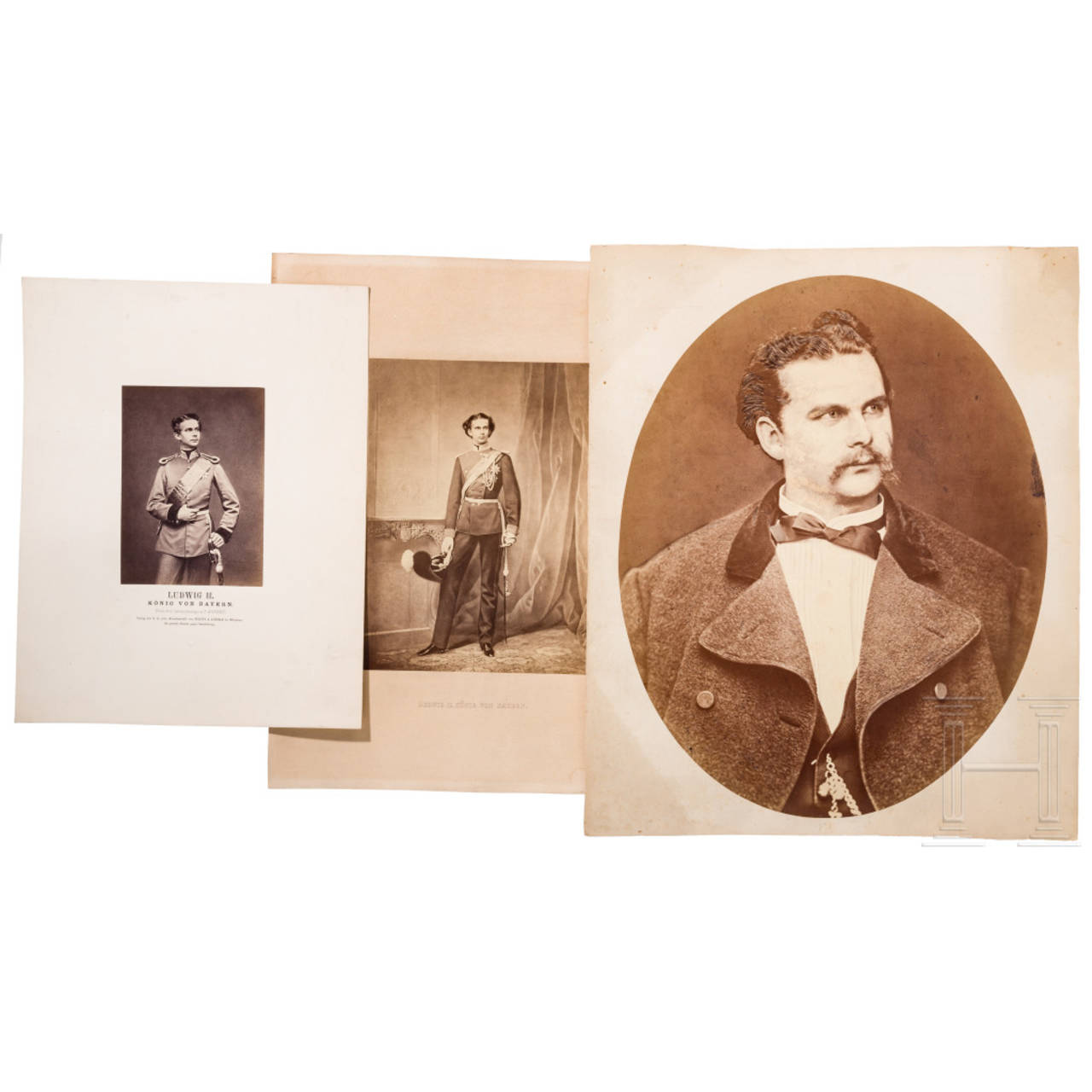 Family of the Freiherrn von Leonrod – large-size gift portraits of King Ludwig II of Bavaria