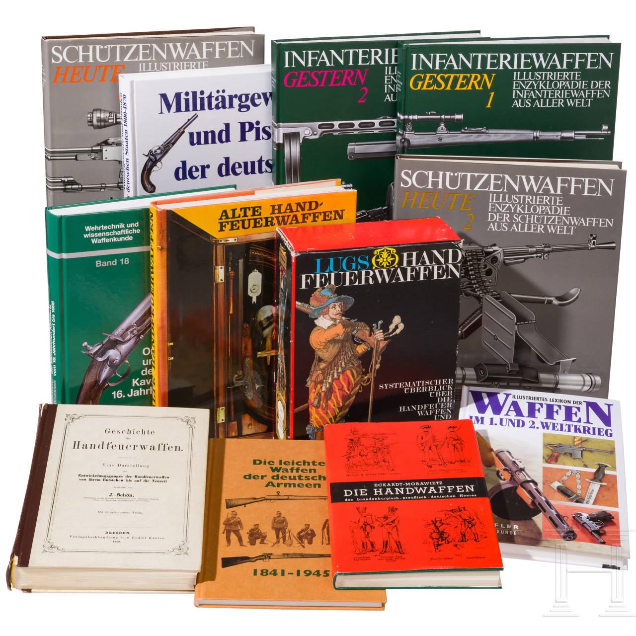 13 volumes of various gun literature