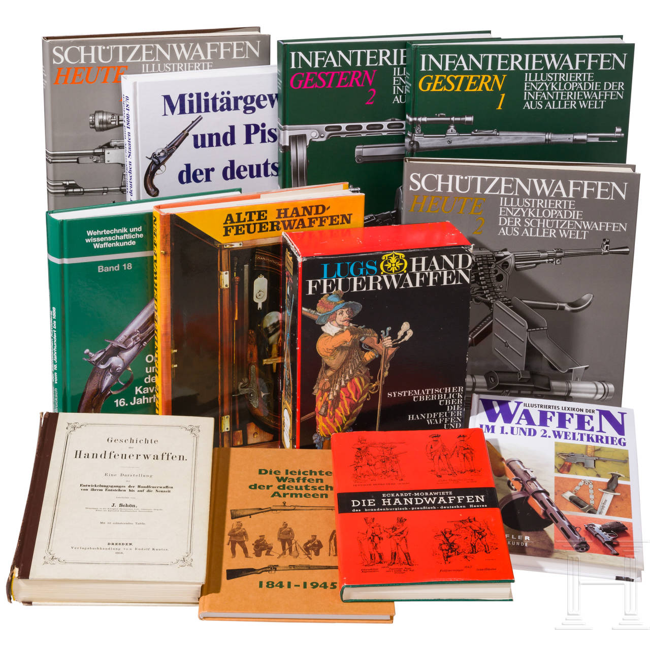 13 Bände Schusswaffen-Literatur