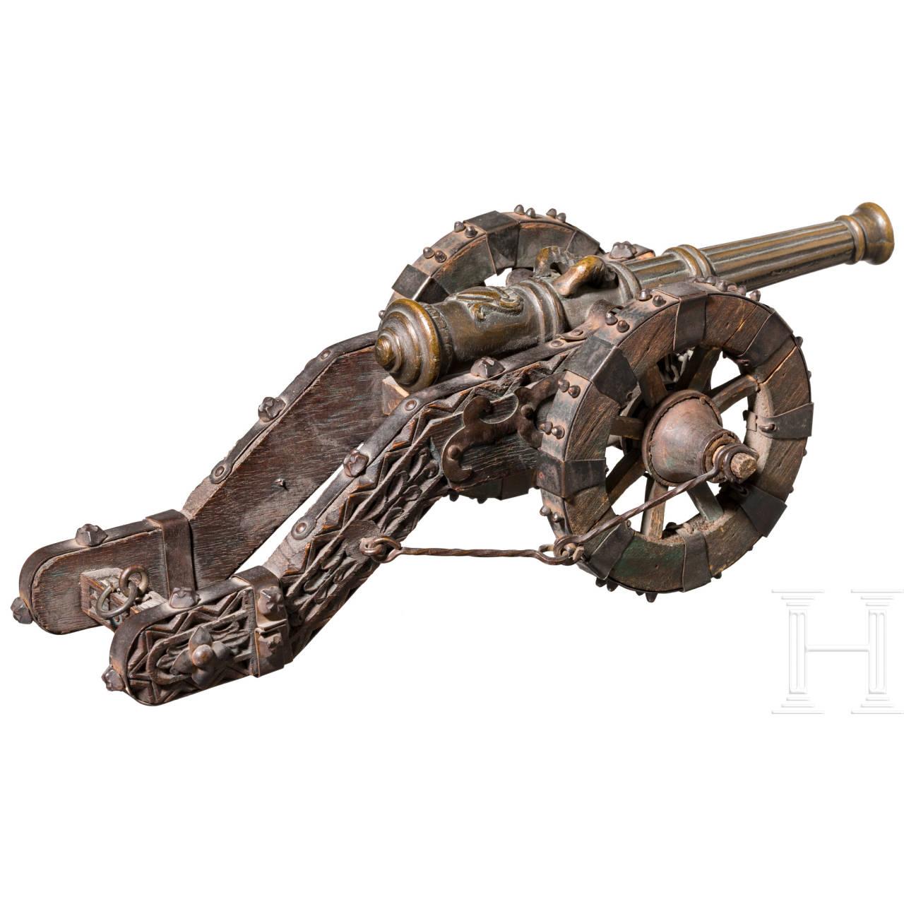 Miniatur-Kanone, im Stil des 16. Jhdts., um 1900