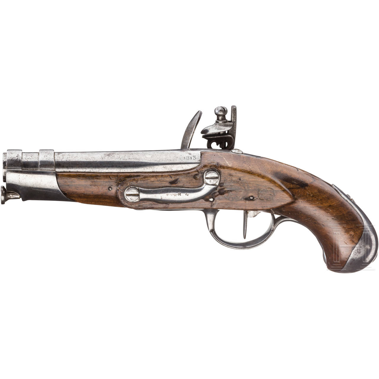 Gendarmeriepistole M An 9, Manufaktur Maubeuge, datiert 1813