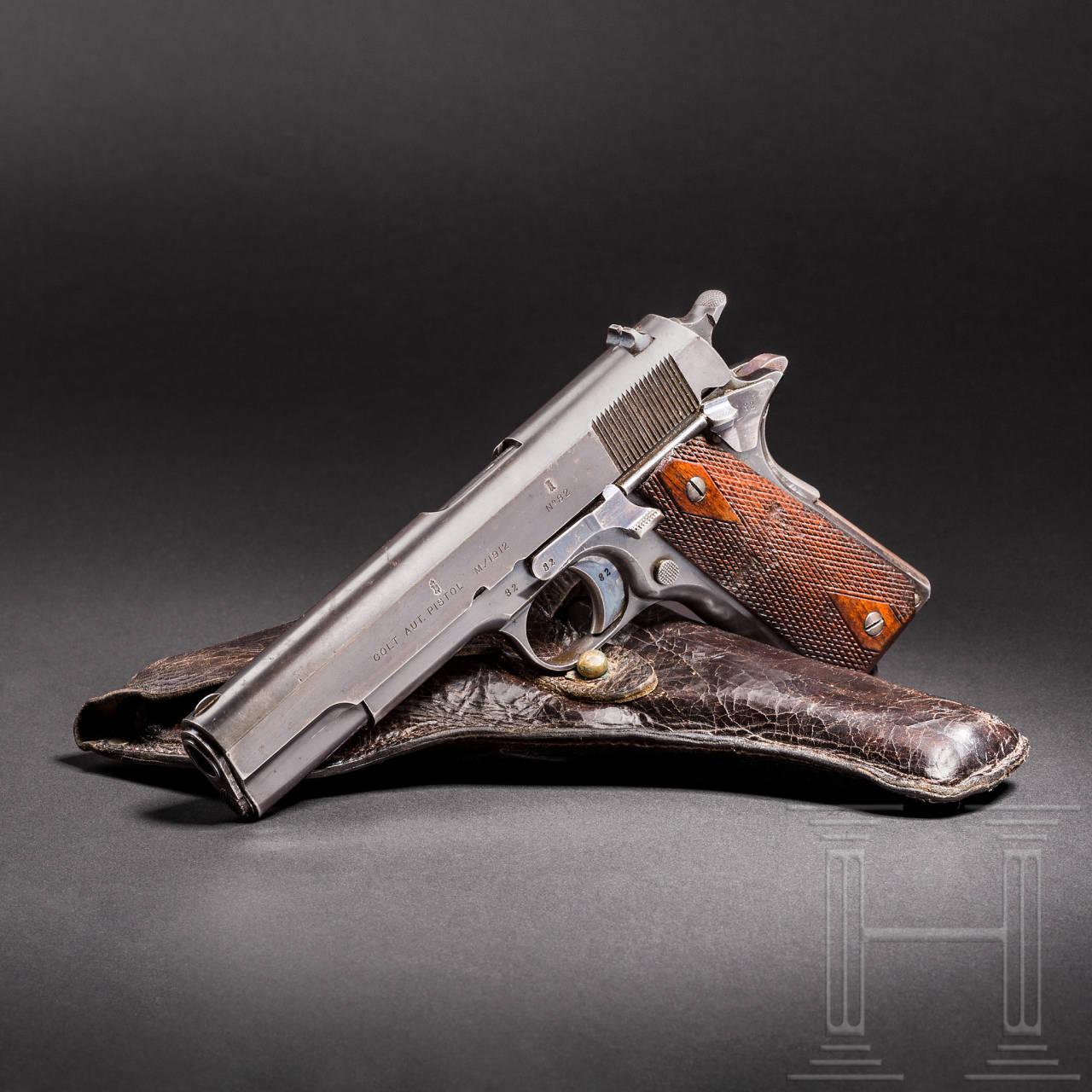 Colt Kongsberg Mod. 1912, 1. Ausführung, mit Tasche